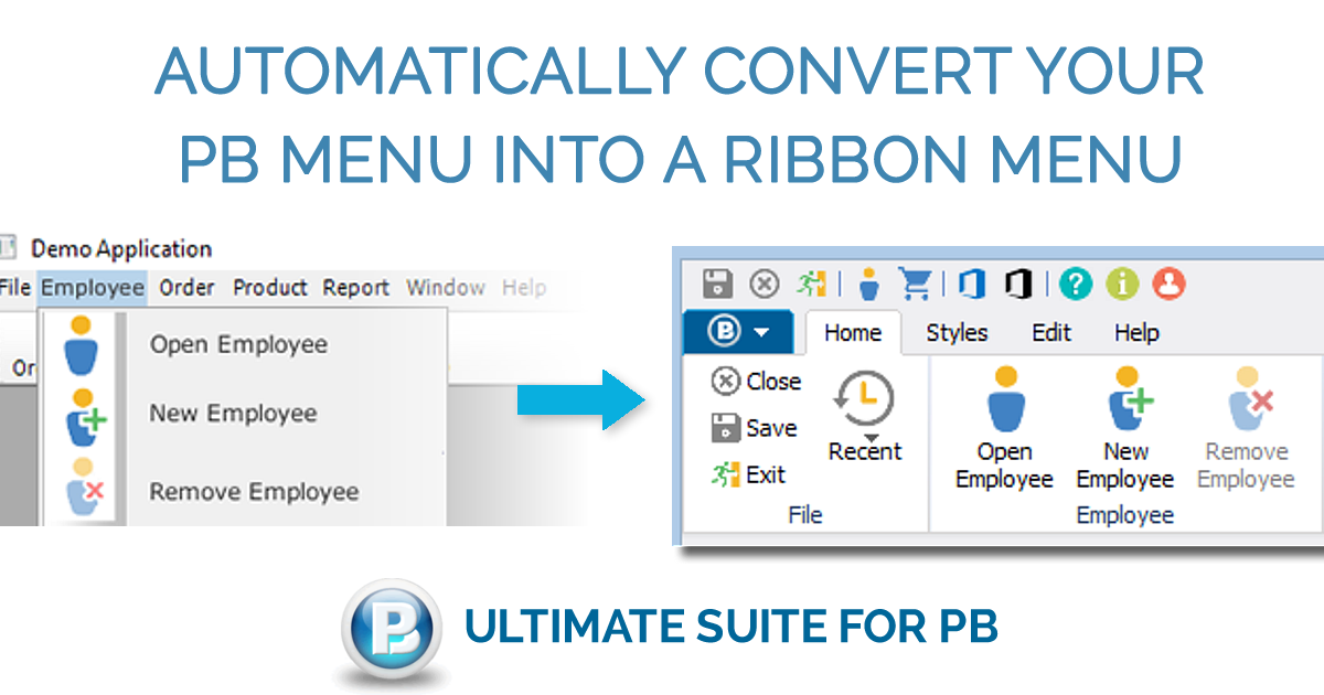 Convert your PB Menu into Ribbon Menu | USPB