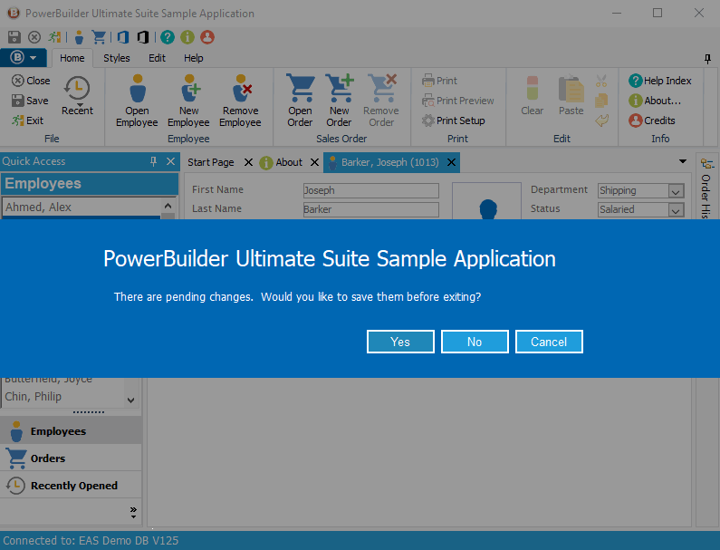Windows 10 style Message Box for PowerBuilder Applications