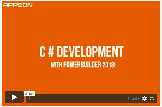PowerBuilder 2018 Preview